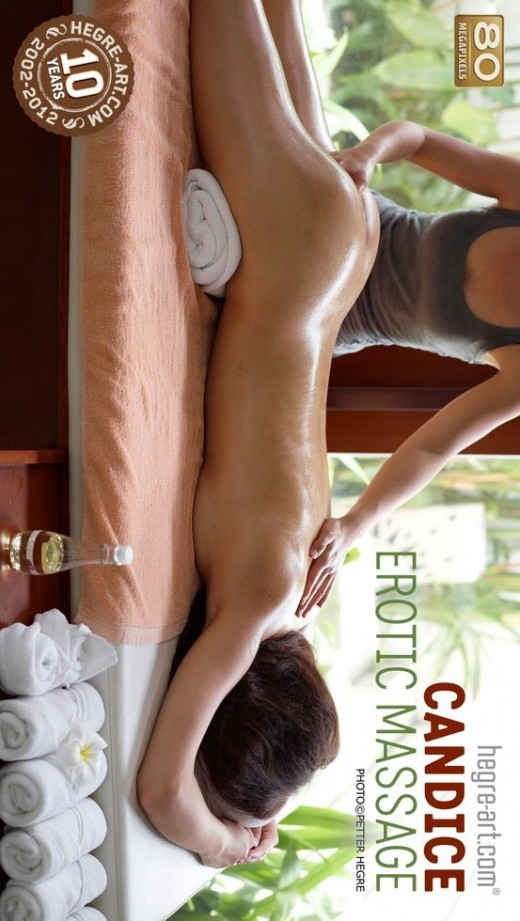 Candice - `Erotic Massage` - by Petter Hegre for HEGRE-ART