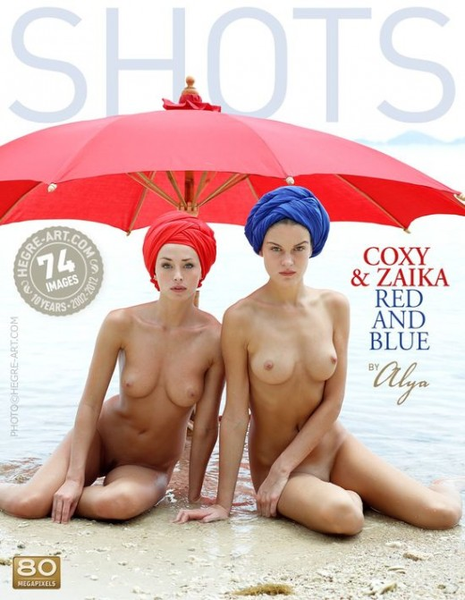 Coxy & Zaika - `Red And Blue` - by Alya for HEGRE-ART