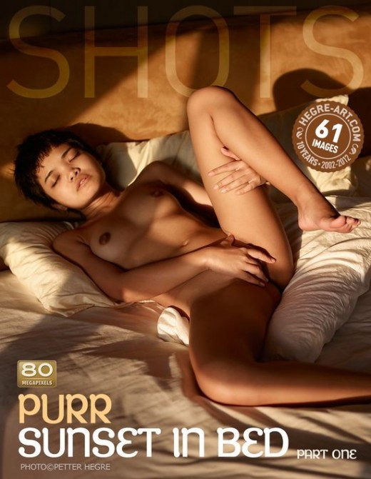 Purr - `Sunset In Bed - Part  One` - by Petter Hegre for HEGRE-ART