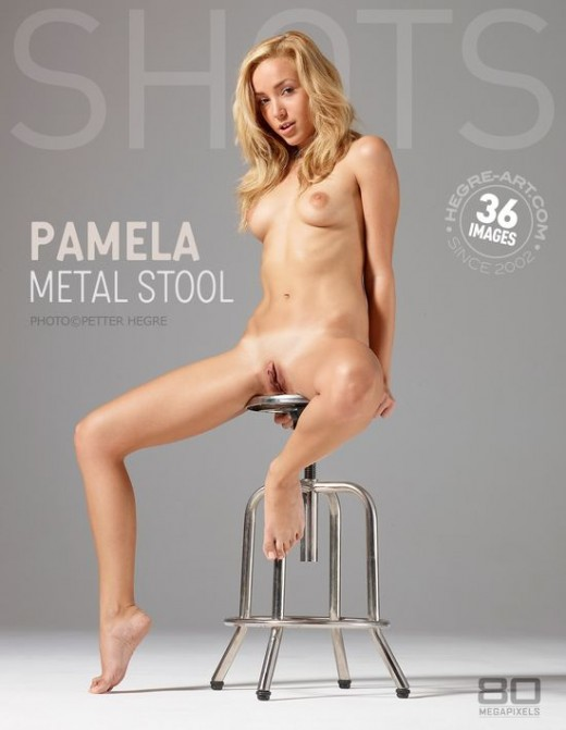 Pamela - `Metal Stool` - by Petter Hegre for HEGRE-ART