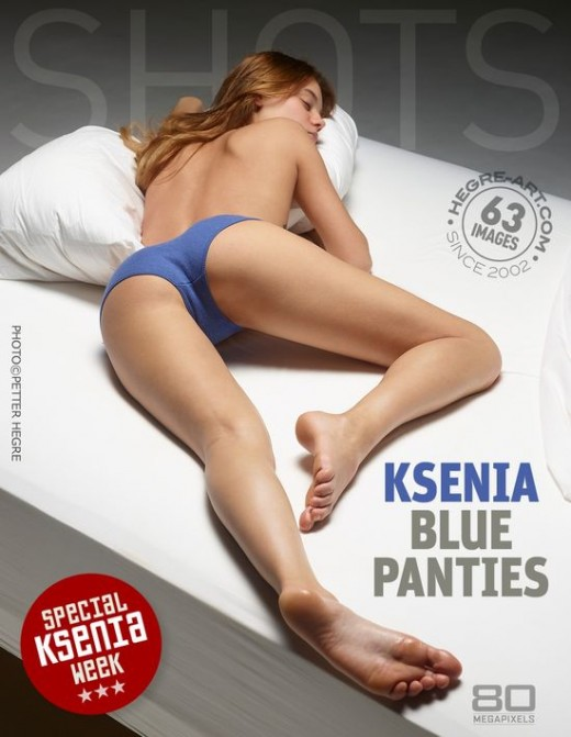 Ksenia - `Blue Panties` - by Petter Hegre for HEGRE-ART