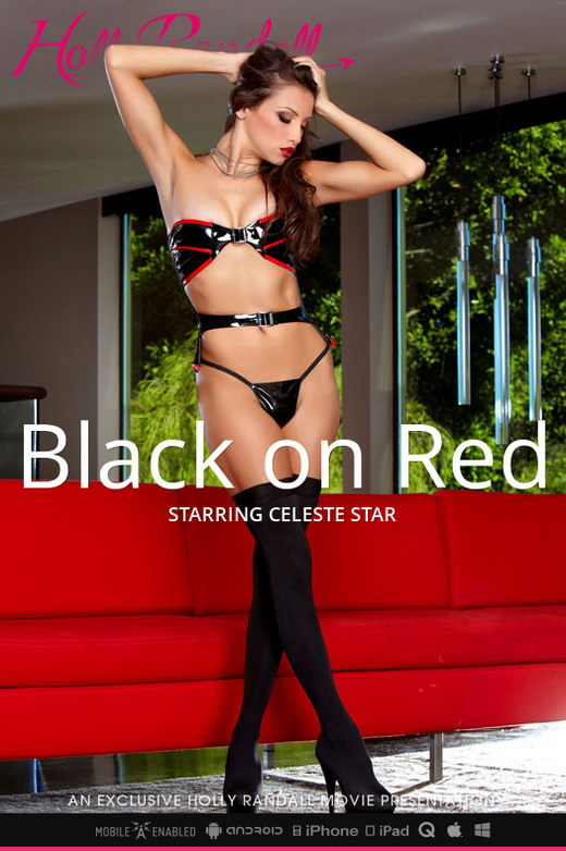 Celeste Star - `Black on Red` - by Holly Randall for HOLLYRANDALL