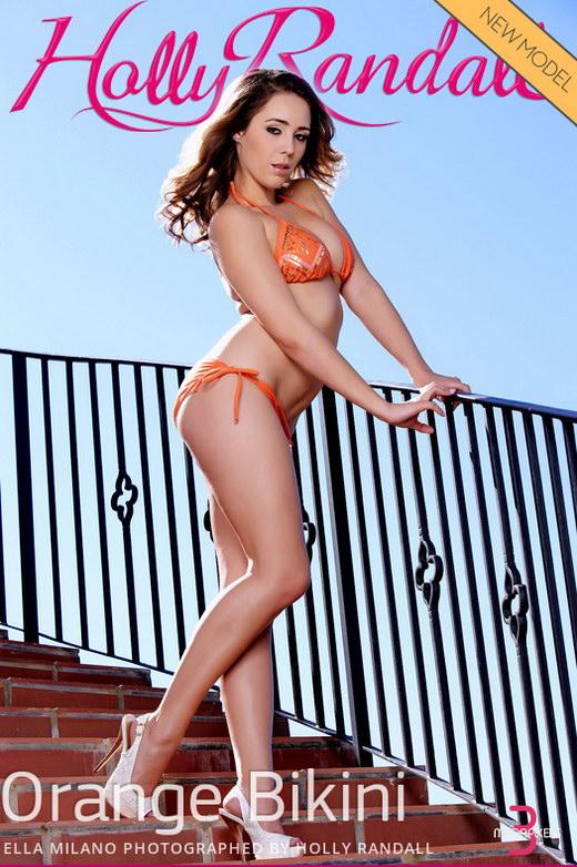 Ella Milano - `Orange Bikini` - by Holly Randall for HOLLYRANDALL
