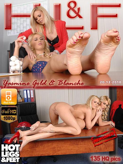 Blanche & Yasmine Gold - `9460` - for HOTLEGSANDFEET