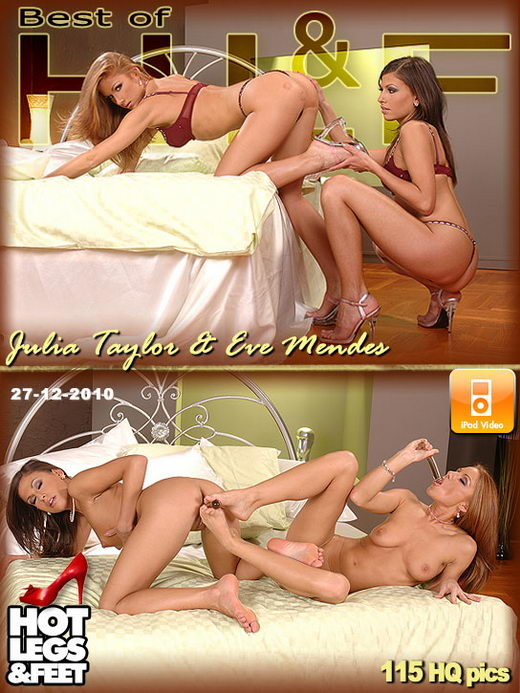 Julia Taylor & Eve Mendes - `7711` - for HOTLEGSANDFEET