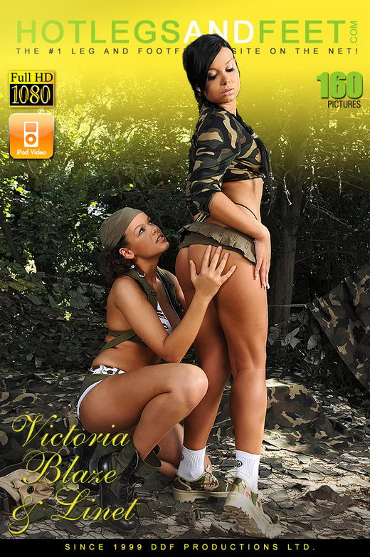 Linet & Victoria Blaze - `Forest fetish fun` - for HOTLEGSANDFEET