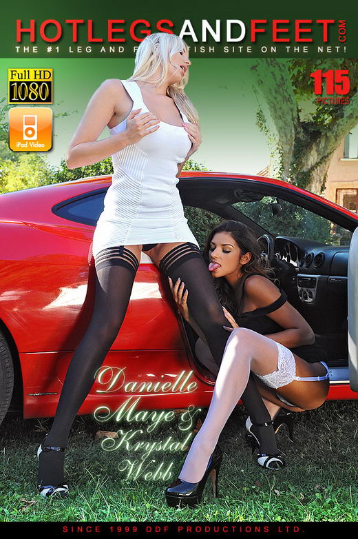 Danielle Maye & Krystal Webb - `Foot Frenzy On A Ferrari` - for HOTLEGSANDFEET