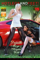 Danielle Maye & Krystal Webb in Foot Frenzy On A Ferrari gallery from HOTLEGSANDFEET