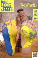 Eve Smile in Raunchy with Paints gallery from HOTLEGSANDFEET