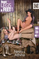 Athina & Nesty in Boot Babes Of Budapest gallery from HOTLEGSANDFEET