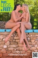 Vanessa Staylon & Lucy Li - Endless Summer: Two Hot Lesbians Enjoy Licking Their Nylons