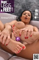 Anissa Kate - Flexible Toe Sucker - French Glamour Babe Shifts Dildo Up Her Anus