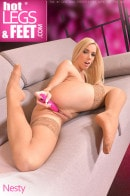 Nesty in Carnal Devotion: Watch A Flexible Blonde And Her Leg Fetish gallery from HOTLEGSANDFEET