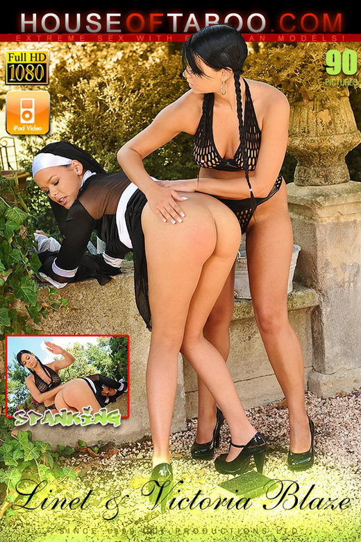 Linet & Victoria Blaze - `Though shall spank thee [Part 2]` - for HOUSEOFTABOO