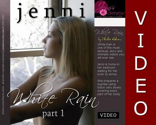 Jenni - `White Rain Video-1` - by Walter Adams for JENNISSECRETS
