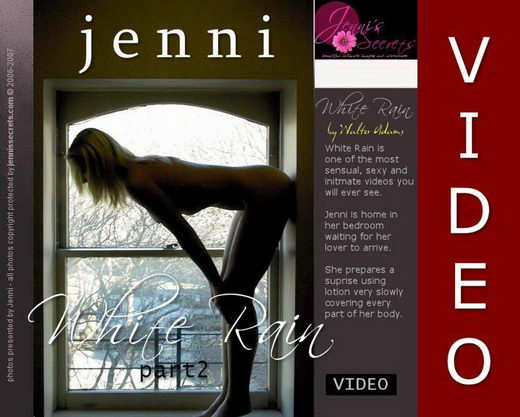 Jenni - `White Rain Video-2` - by Walter Adams for JENNISSECRETS