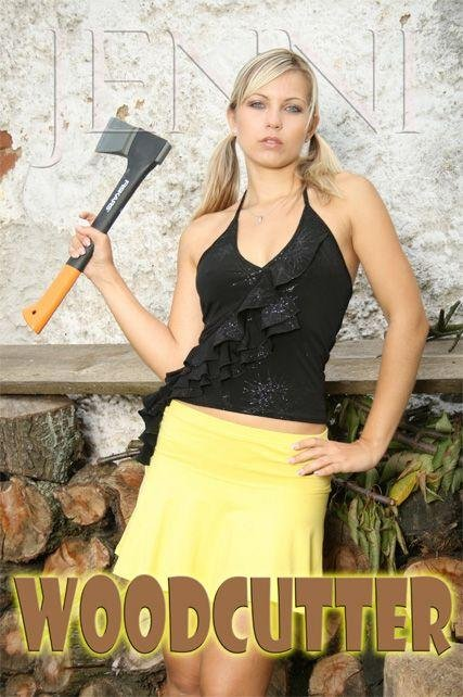 Jenni - `Wood Cutter-1` - by George for JENNISSECRETS
