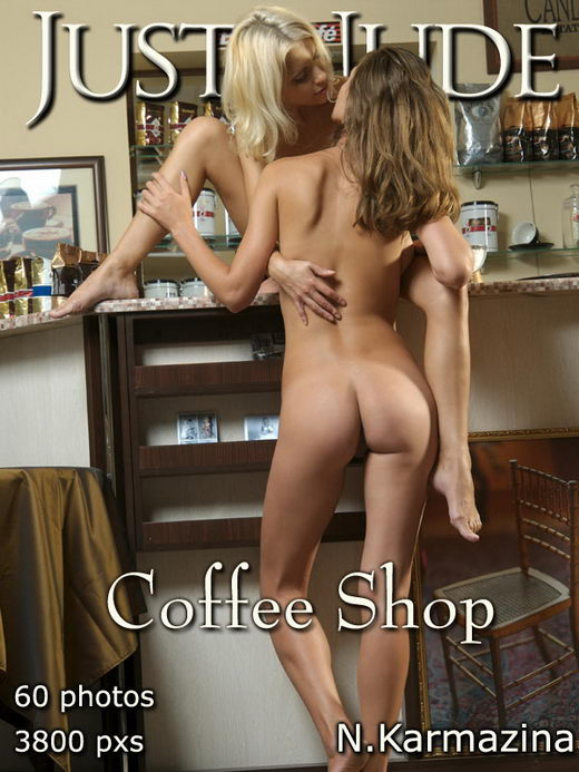 Karina & Irina - `Coffee Shop` - by Karmazina for JUST-NUDE