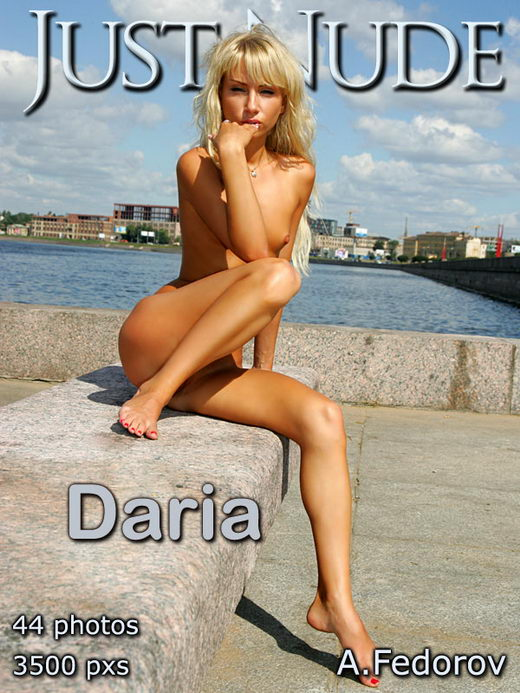 Daria - `Embankment` - by A Federov for JUST-NUDE