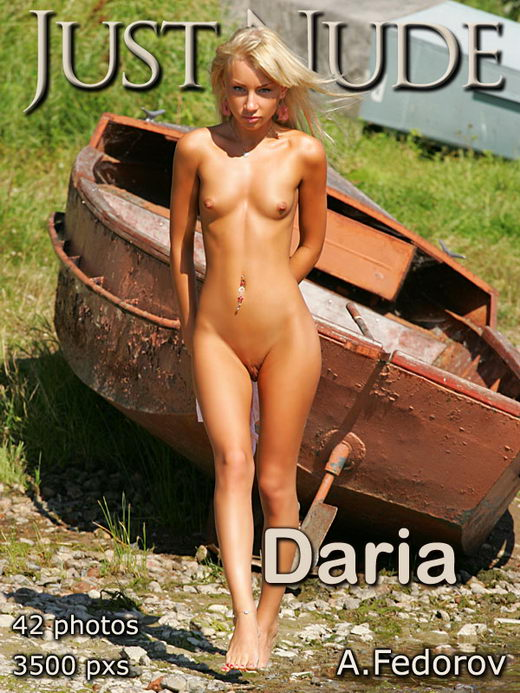 Daria - `Boat` - by Alexander Fedorov for JUST-NUDE