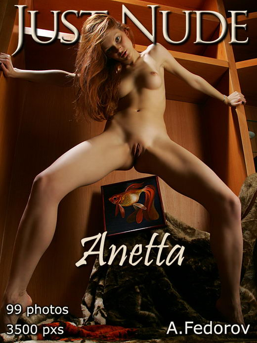 Anetta - `Gold Fish` - by Alexander Fedorov for JUST-NUDE