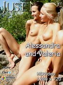 Alessandra & Valeria in  video from JUST-NUDE by Korps
