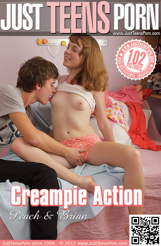 Peach - `Creampie Action` - for JUSTTEENSPORN