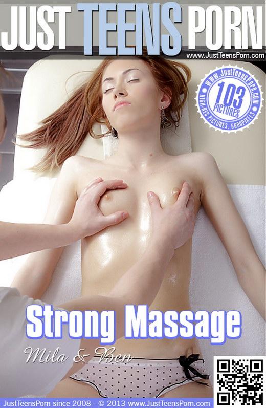 Mila - `Strong Massage` - for JUSTTEENSPORN