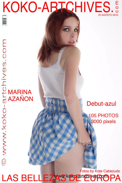Marina Azanon - `Debut-Azul` - by Kote Cabezudo for KOKO ARCHIVES
