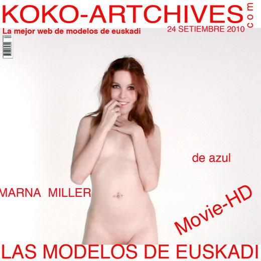 Amarna Miller - `De Azul` - by Kote Cabezudo for KOKO ARCHIVES