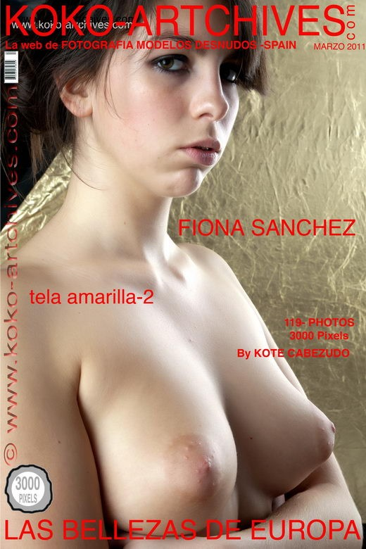 Fiona Sanchez - `Tela-Amarillia - 2` - by Kote Cabezudo for KOKO ARCHIVES