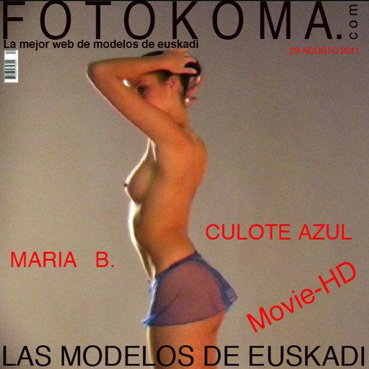 Maria B - `Culote Azul` - by Kote Cabezudo for KOKO ARCHIVES
