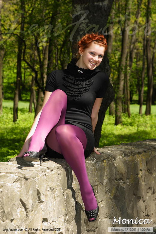 Monica - `In Purple Pantyhose` - for LEGSFACTOR