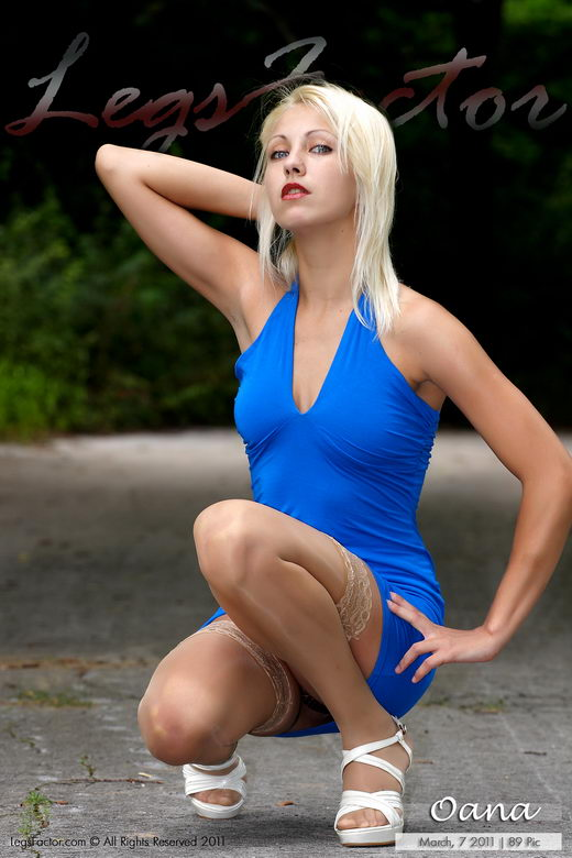 Oana - `In Blue Dress` - for LEGSFACTOR