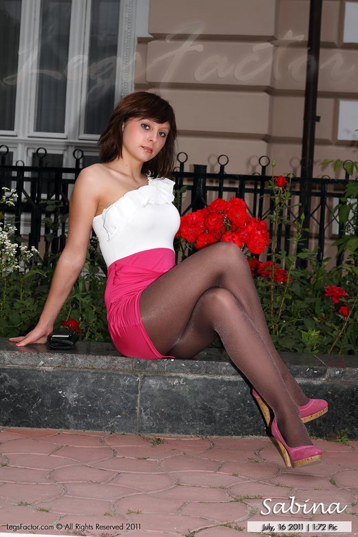 Sabina - `In Cappucino Ponti Aromatized Pantyhose` - for LEGSFACTOR