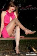 In Pink Dress In Levante Brezza