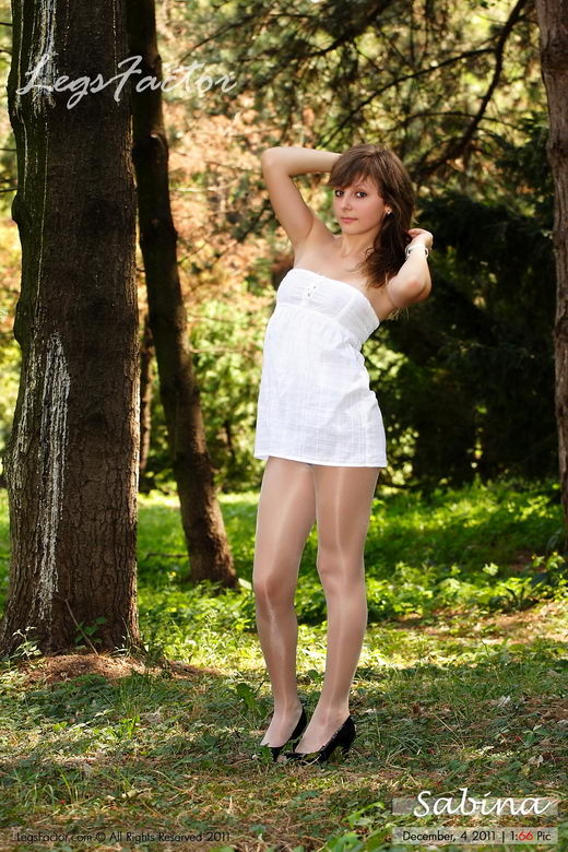 Sabina - `In Glossy Kunert Satin In The Park` - for LEGSFACTOR