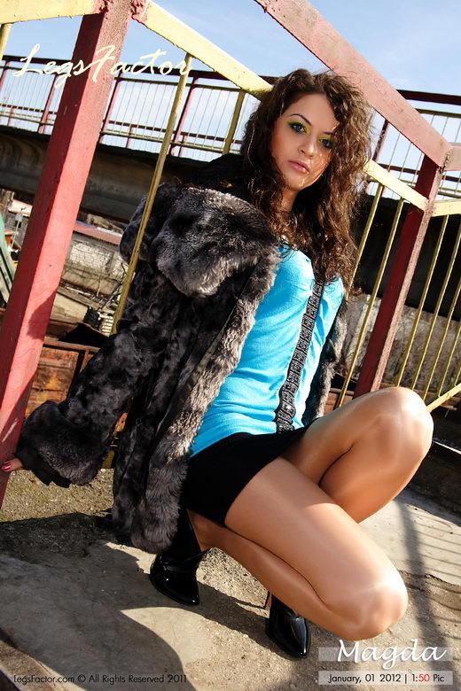 Magda - `Beautiful Smokes Superslims In Kunert Satin Pantyhose` - for LEGSFACTOR