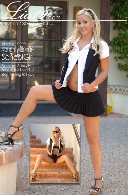 Lia19 - `Chapter 130 Volume 1 - Naughty Blonde Schoolgirl` - for LIA19