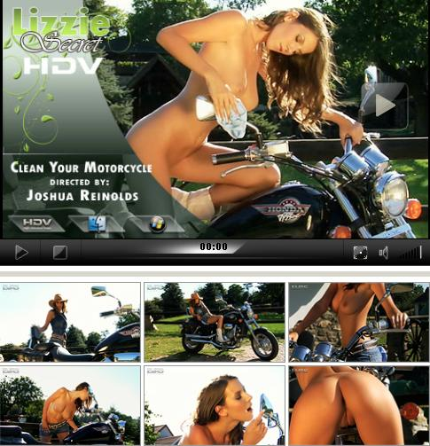 Lizzie Ryan - `Clean my Motorbyke` - by Joshua Reinolds for LIZZIE-SECRET