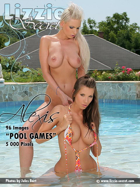 Alexis & Lizzie - `Pool Games` - by Jules Bart for LIZZIE-SECRET