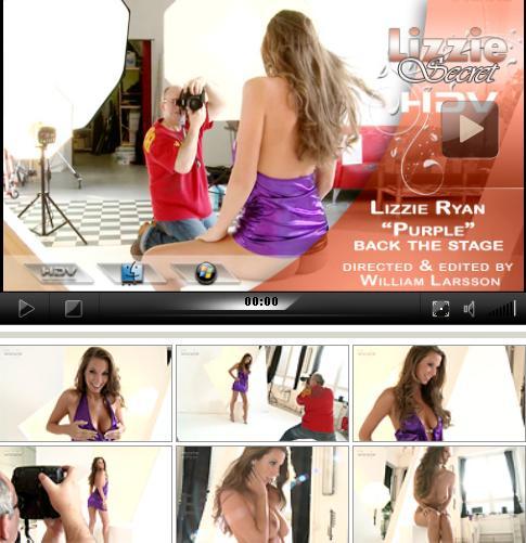 Lizzie Ryan - `Purple -Backstage` - by Willian Larsson for LIZZIE-SECRET