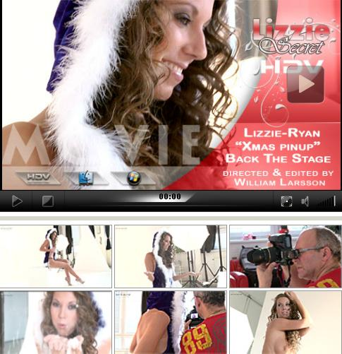 Lizzie Ryan - `Blue Xmas Pinup - Bts` - by Willian Larsson for LIZZIE-SECRET
