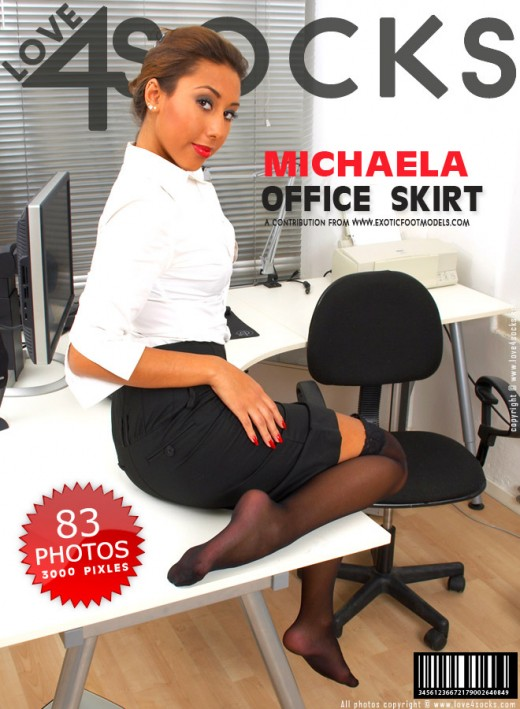 Michaela - `Office Skirt` - for LOVE4SOCKS