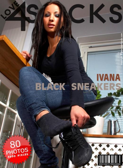 Ivana - `Black Sneakers` - for LOVE4SOCKS