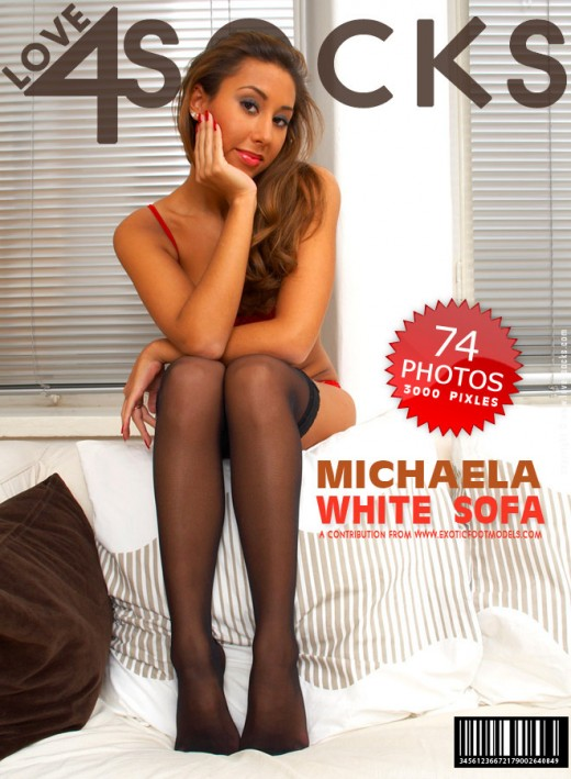 Michaela - `White Sofa` - for LOVE4SOCKS