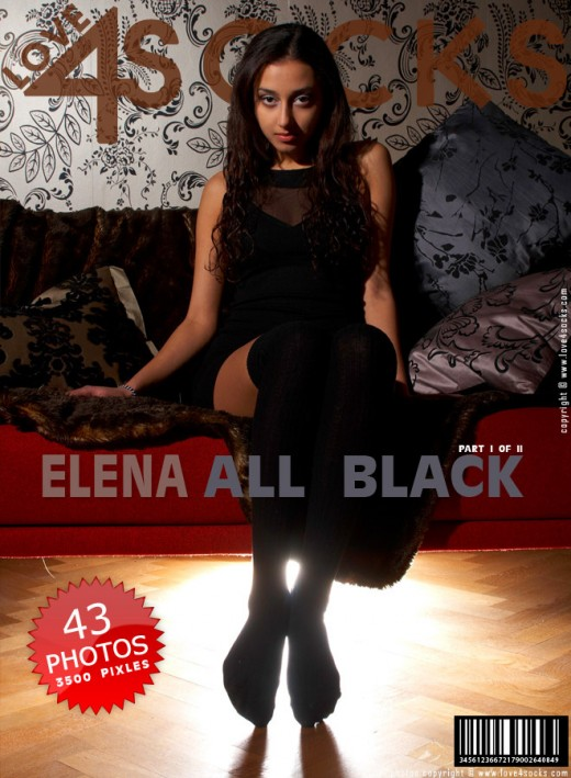 Elena - `All Black - Part 1` - for LOVE4SOCKS