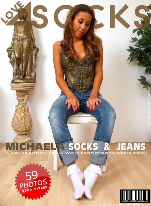 Michaela G in Socks & Jeans gallery from LOVE4SOCKS