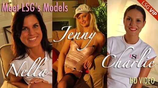 Jenny & Nella & Charlie - `Meet LSG Models` - for LSGVIDEO