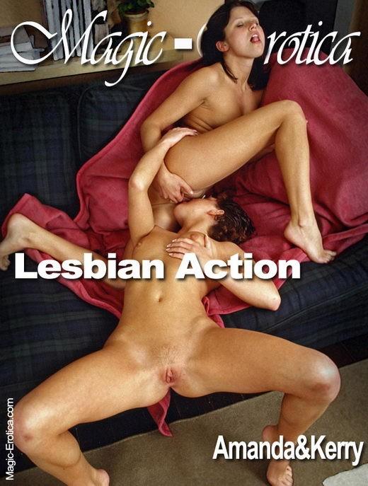 Amanda & Kerry - `Lesbian Action` - by Luis Durante for MAGIC-EROTICA